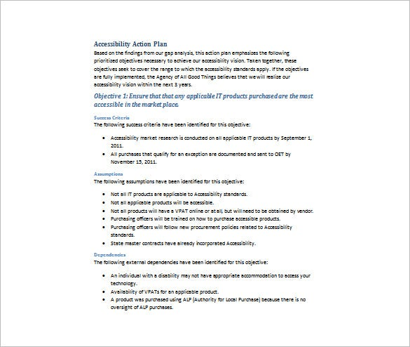 accessibility implementation plan word free download