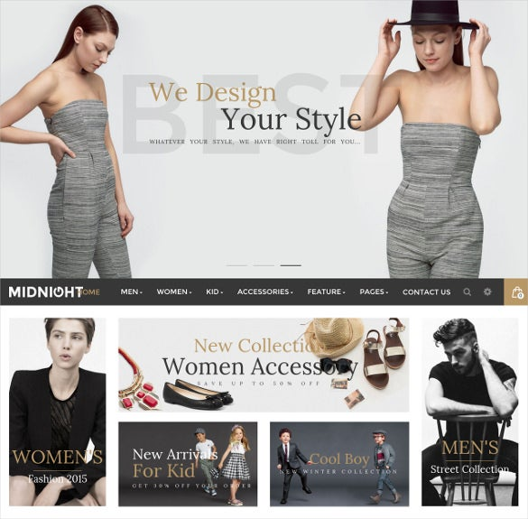 midnight – responsive ecommerce magento theme