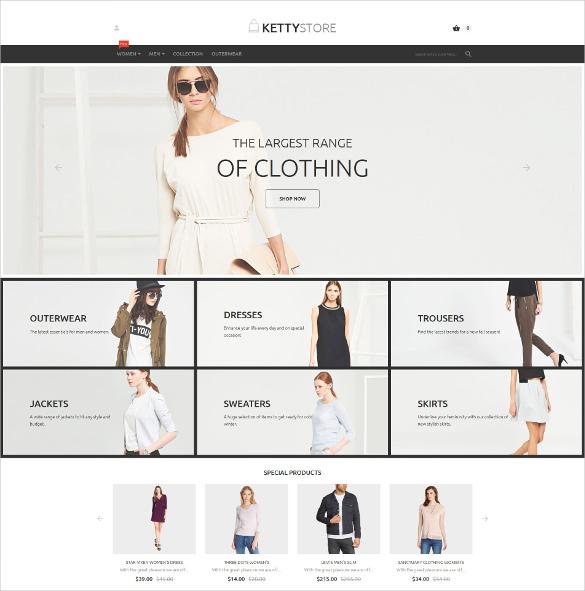 fashion shop magento website theme
