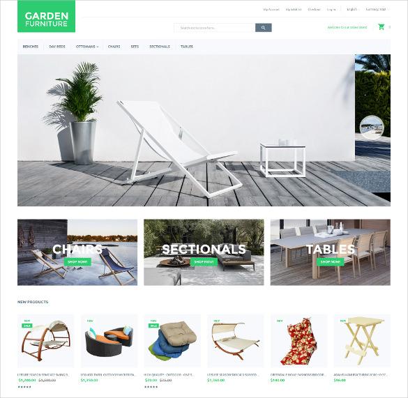 garden furniture magento website theme