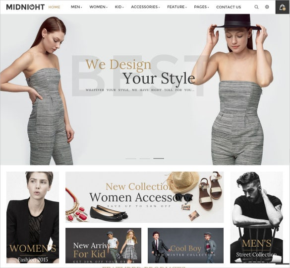 responsive clothing magento website theme