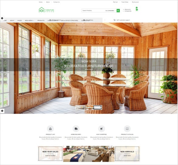 responsive furniture magento website template