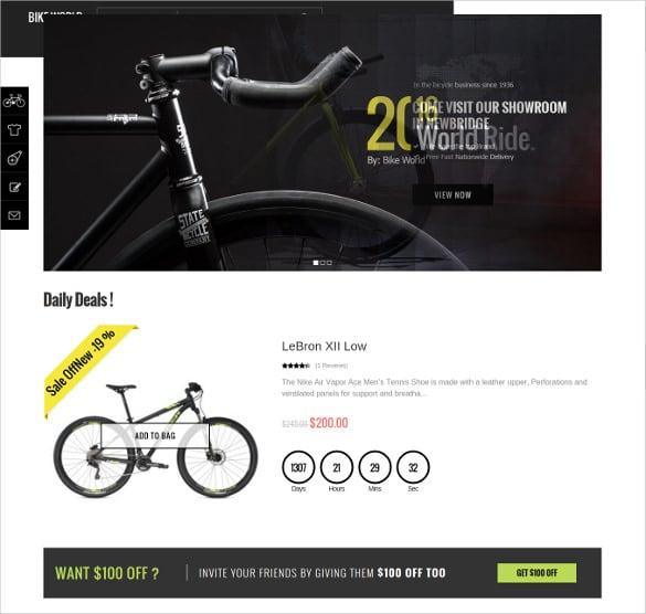 bikeworld responsive magento website theme1