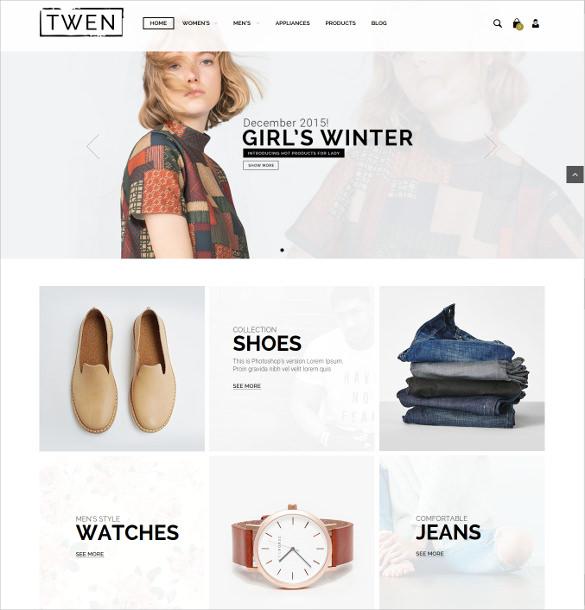 responsive magento fashion website template
