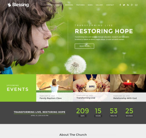 blessing church html5 template