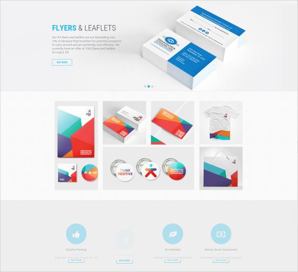 responsive magento printing shop website theme