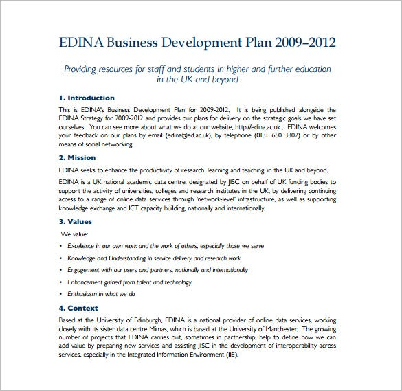 business plan development