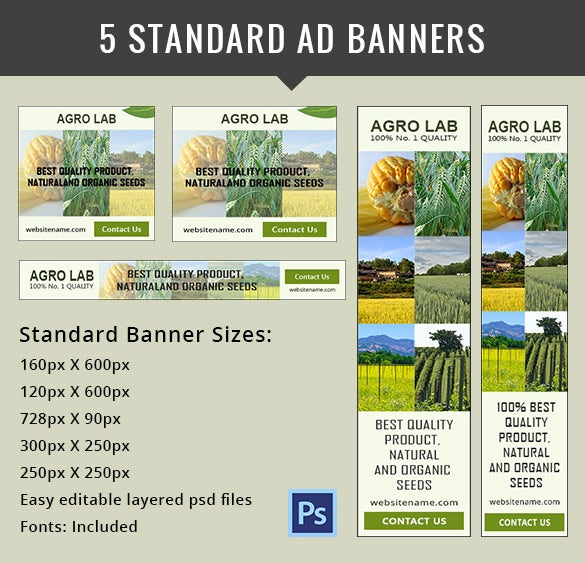 Agriculture Banner Ad Template