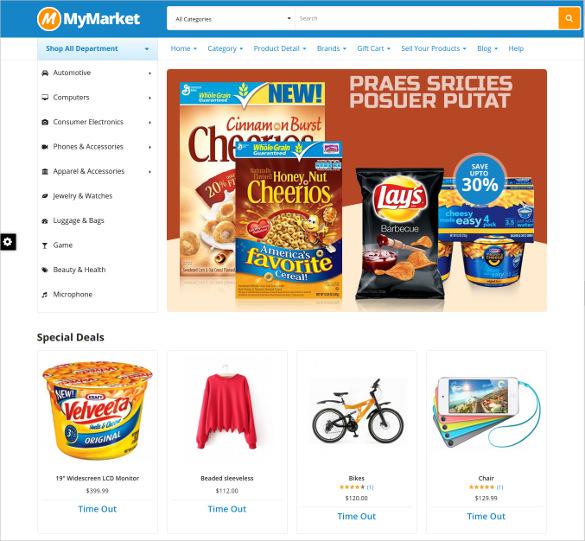 supermarket magento webiste theme