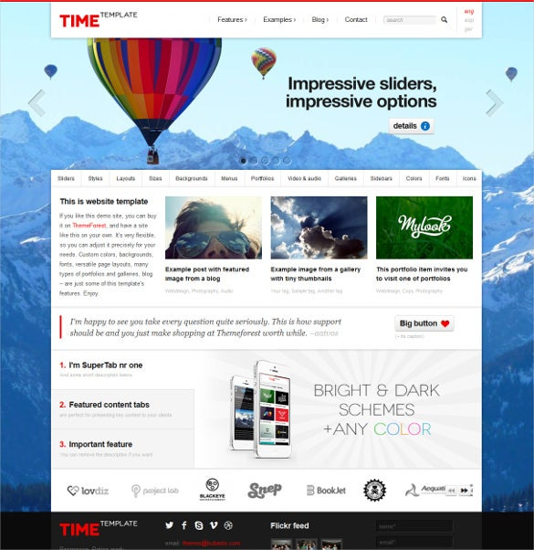 time responsive html5 template