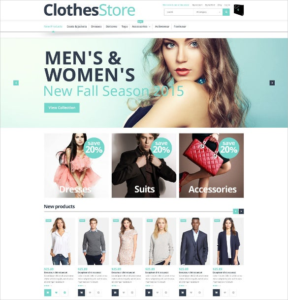 free clothes store magento website theme