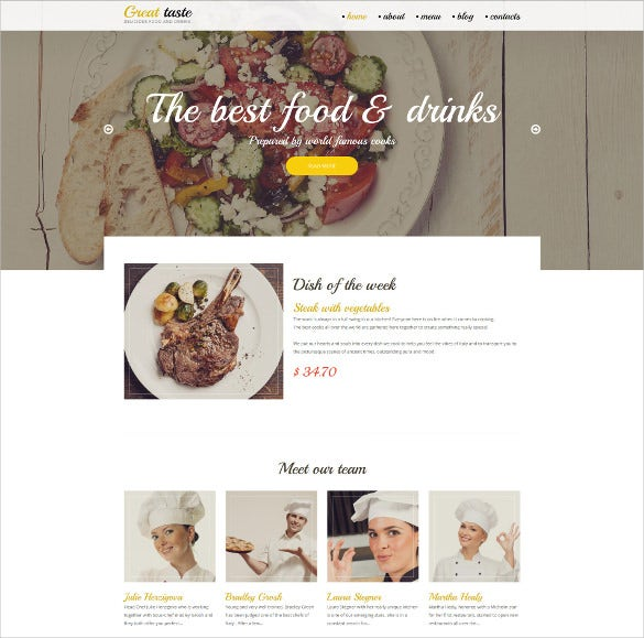 cafe restaurant drupal website theme