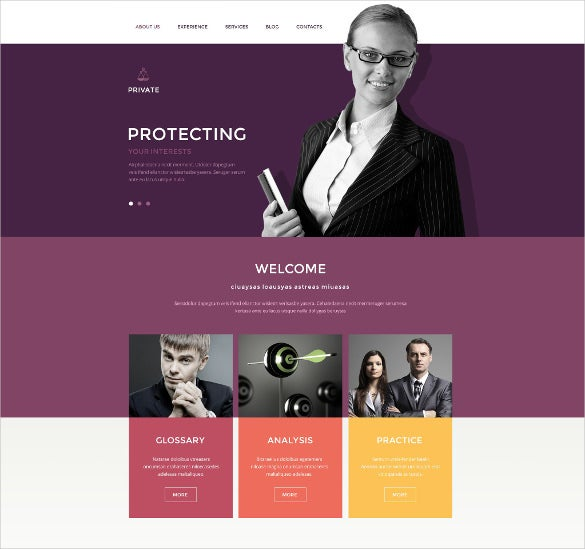 law office drupal website template