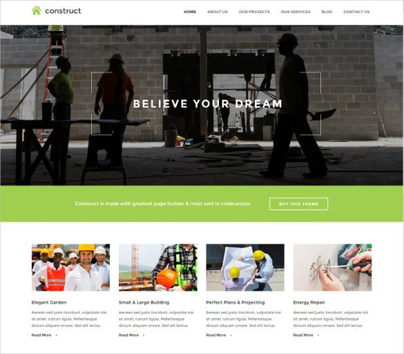 construction business drupal website template