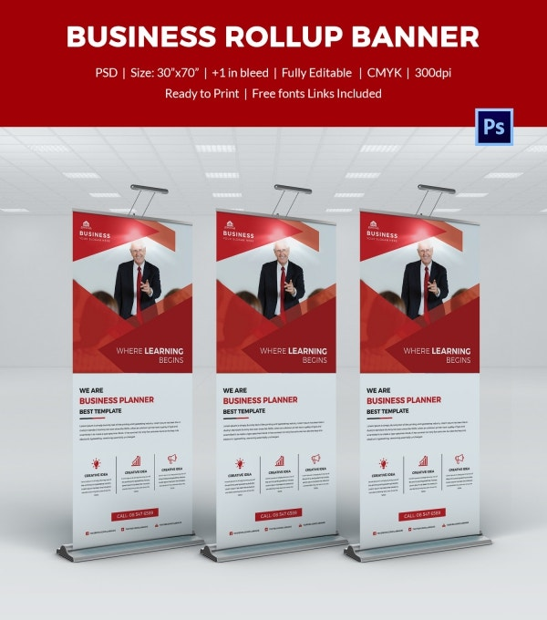 Business Rollup Sample Banner Template