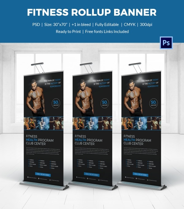 Fitness Rollup Sample Banner Template