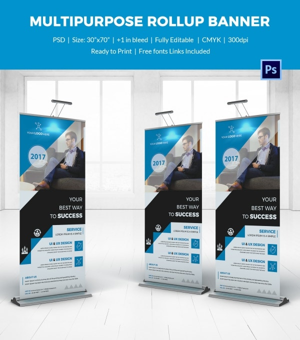 Multipurpose Rollup Sample Banner Template