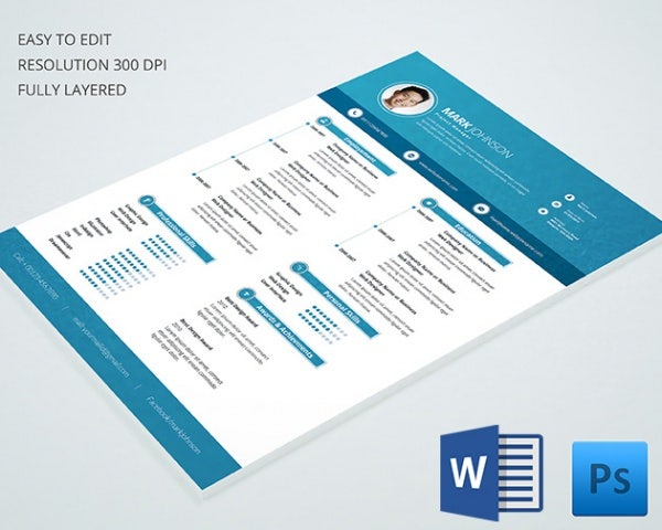 project manager reume template - Resume Template Doc Download Free