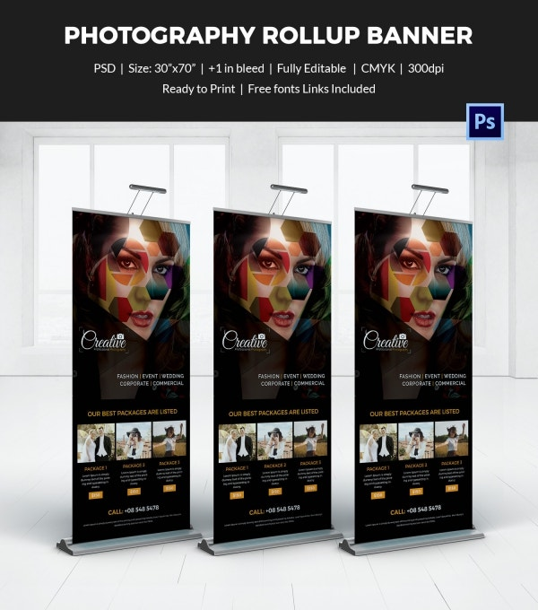 Photography Rollup Sample Banner Template