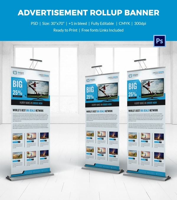 Advertisement Rollup Sample Banner Template