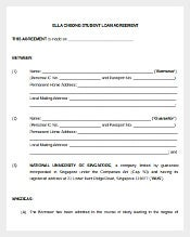 Student Loan Agreement Template