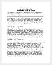 Free Consulting Contract Agreement Template