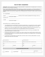 Example Fee Payment Agreement Template
