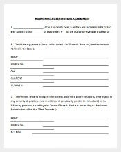 Changes for Roommate Agreement Document