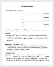 Roommates for House Agreement Document