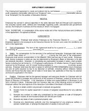 Executive Director Employee Agreement Form