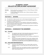 Sample Employement Agreement Template