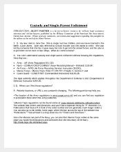 Free Single Parent Custody Agreement Template