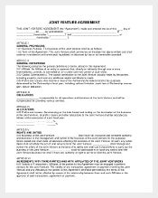 Example Join Venture Agreement Template