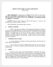 Sample Software Licencec Agreement Template