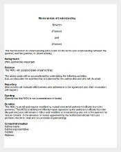 Memorandum of Understanding Agreement Template