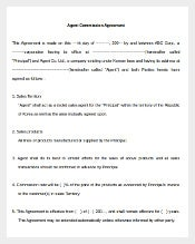 Agent Commission Agreement Template