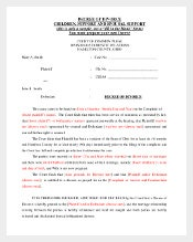 Decree of Divorce Agreement Template
