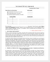 Sample Investment Advisory Agreement Template