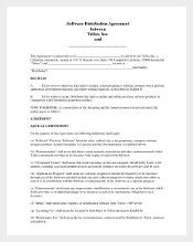 Free Software Distribution Agreement Template