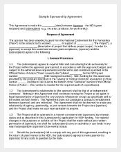 Sample Sponsorship Agreement Template
