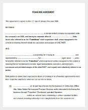 Free Franchise Agreement Template