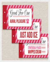 Naughty Coupon Book Template