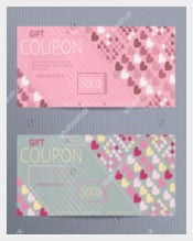 Random Colored Hearts Love Coupon Template