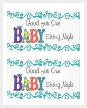 Professional Baby Sitting Coupon Template