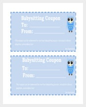Free Baby Sitting Coupon PDF Foramt