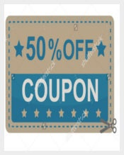 Simple Discount Gift Coupon Template