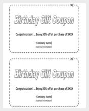 Homemade Birthday Coupon Template