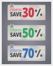 Colorful Coupon Design Template