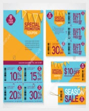 Beautiful Coupon Flyer Template