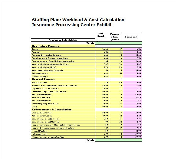 Staffing Plan Template   Free Word Excel Pdf Documents